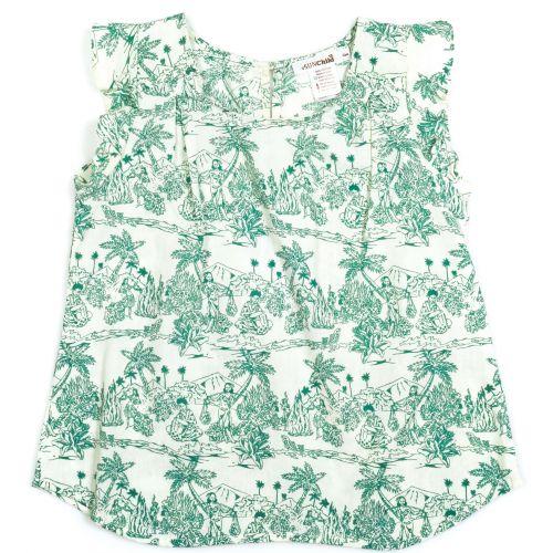 Top pour fille Cocobolo coloris vert